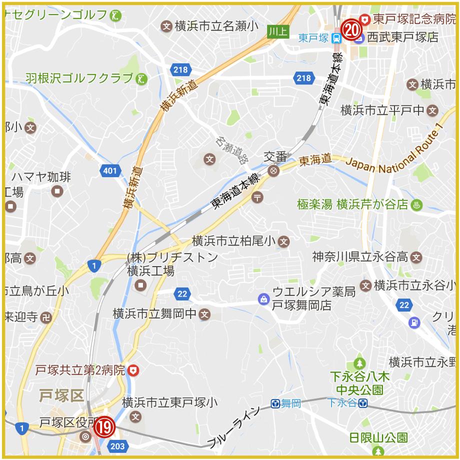 横浜市戸塚区にあるアコム店舗・ATMの位置