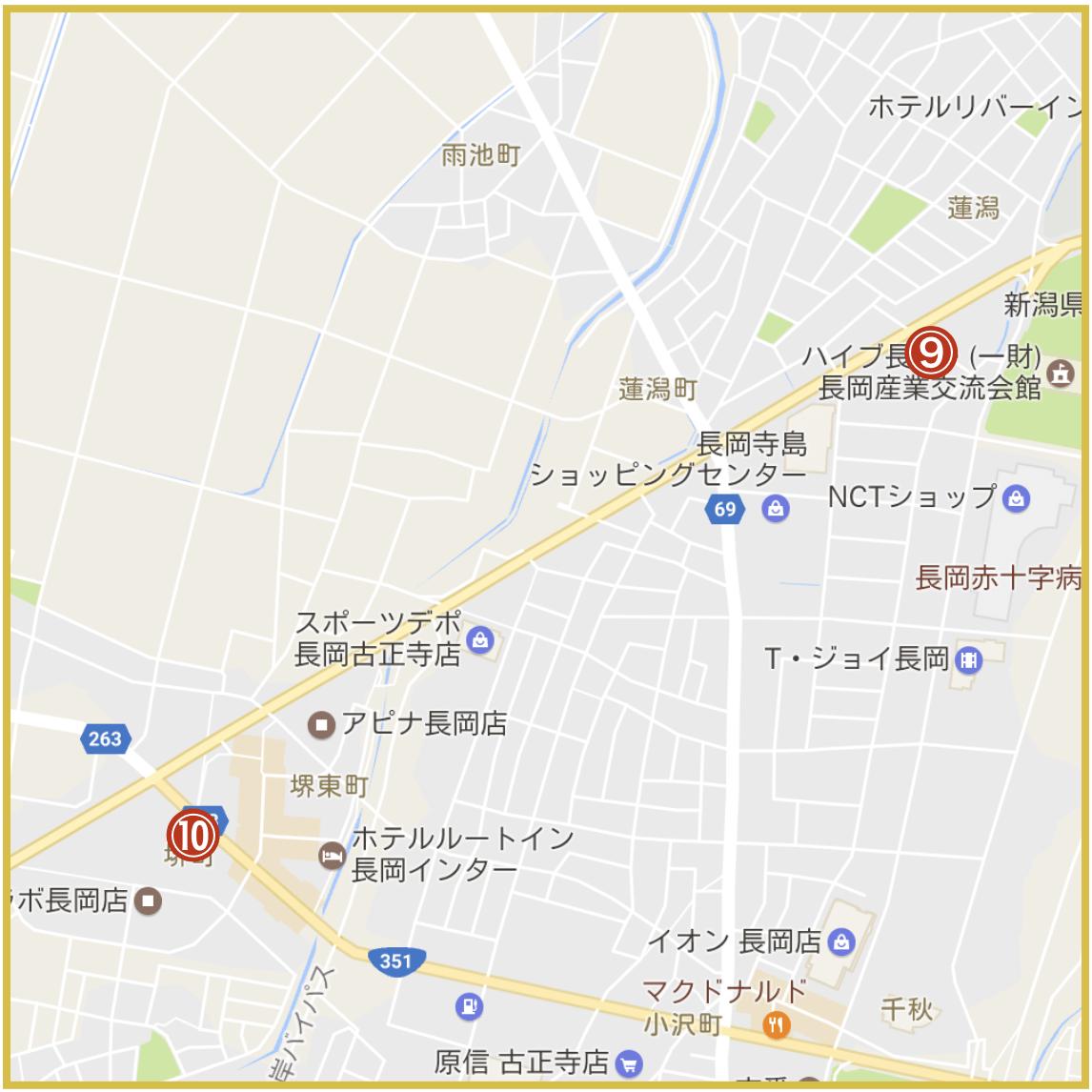 新潟県長岡市にあるアコム店舗・ATMの位置(2020年4月版)