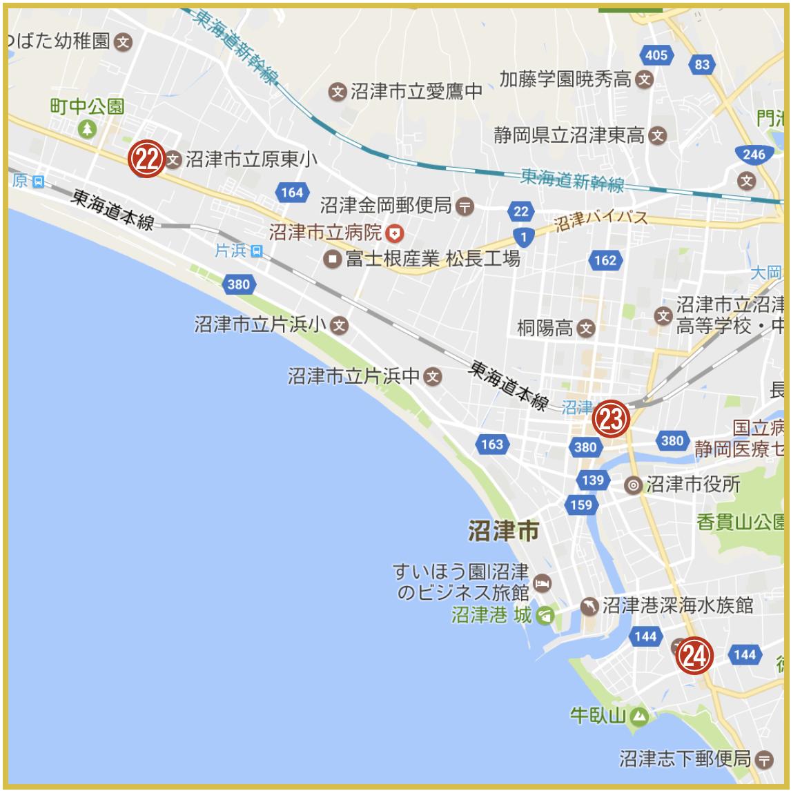 静岡県沼津市にあるアコム店舗・ATMの位置