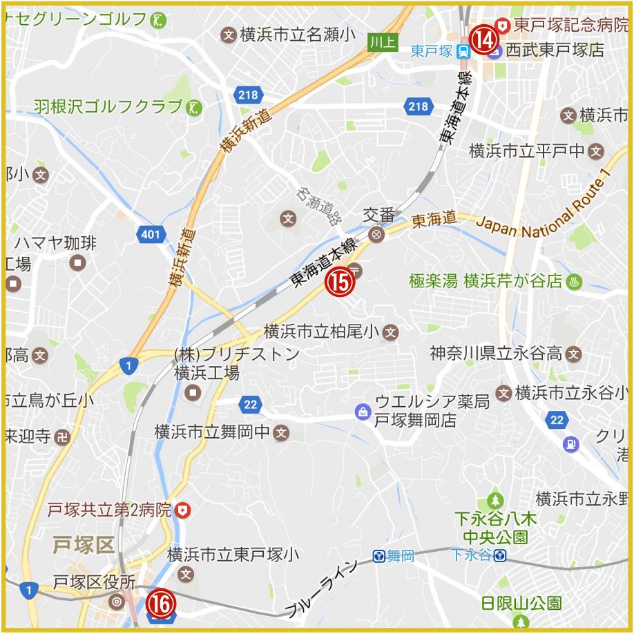 横浜市戸塚区にあるプロミス店舗・ATMの位置
