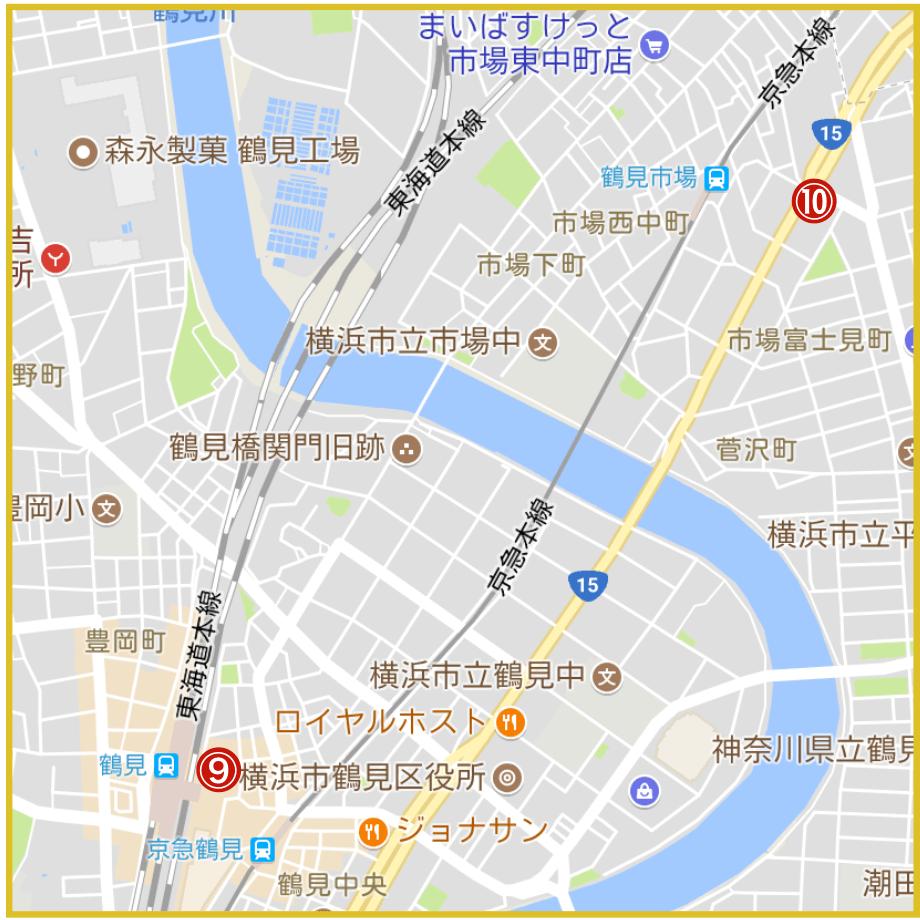 横浜市鶴見区にあるアコム店舗・ATMの位置