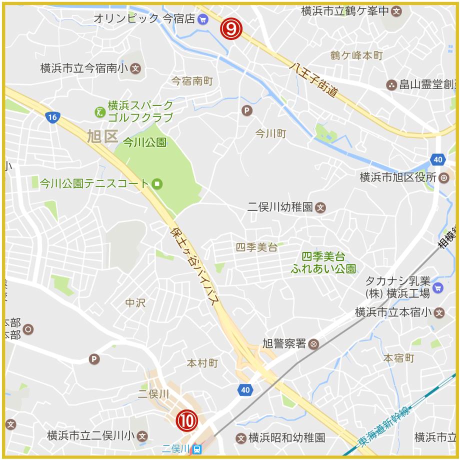 横浜市旭区にあるプロミス店舗・ATMの位置