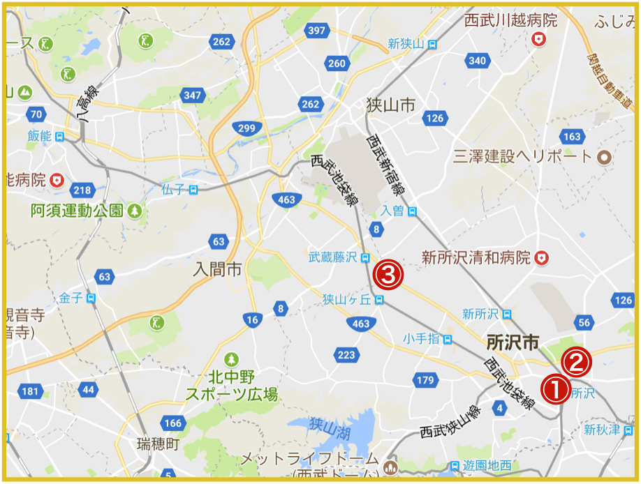 埼玉県西部地域にあるアコム店舗・ATMの情報