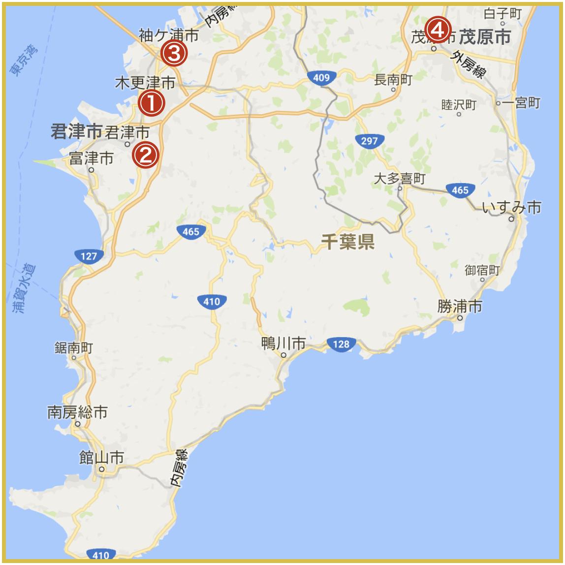 千葉県南地域にあるアイフル店舗・ATMの位置