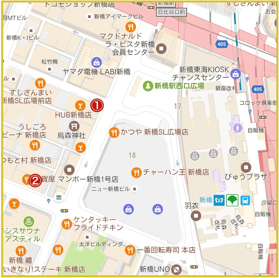 新橋駅周辺にあるプロミス店舗・ATMの位置(2019年10月版)