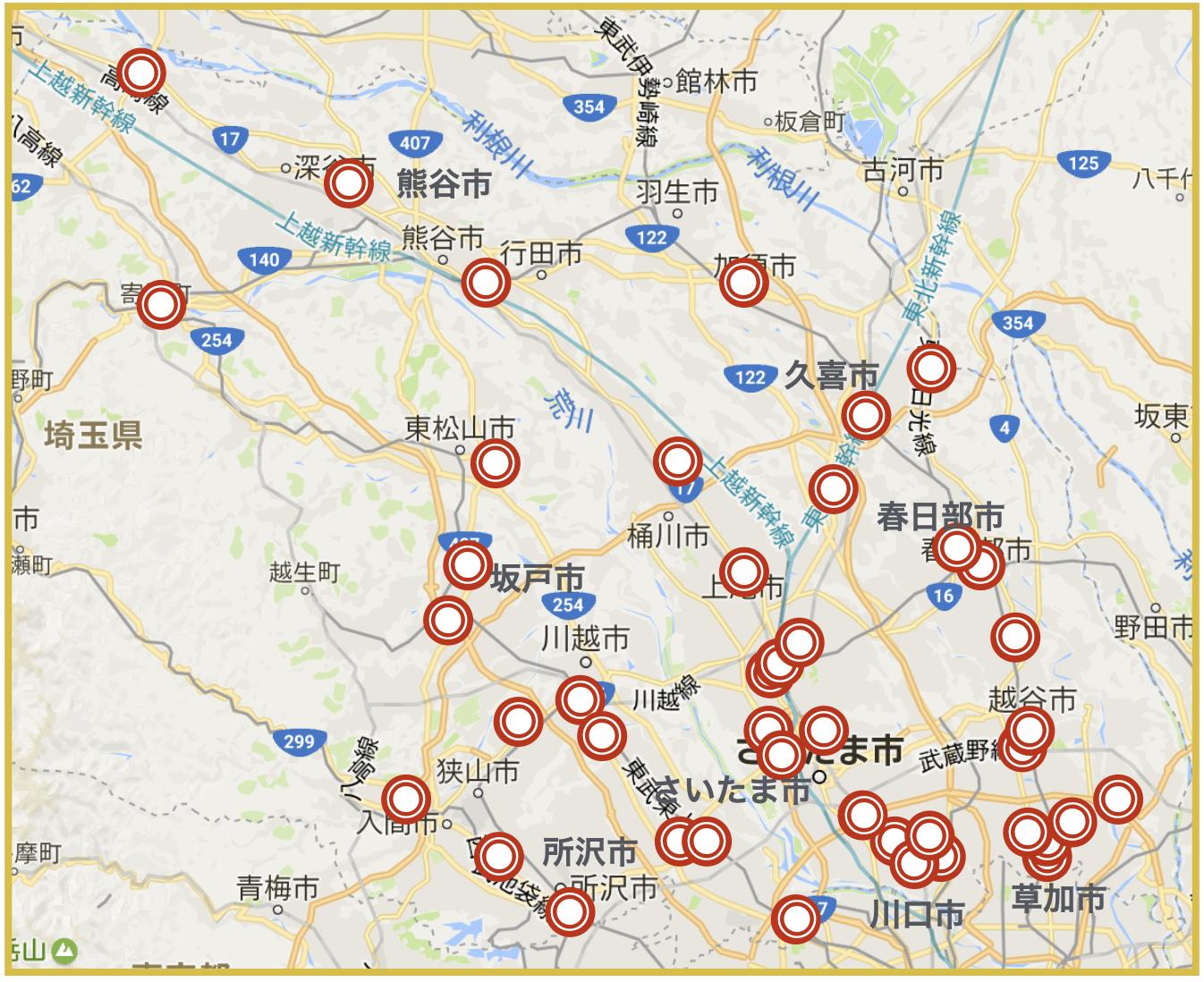 埼玉県にあるプロミス店舗・ATMの位置(2020年版)