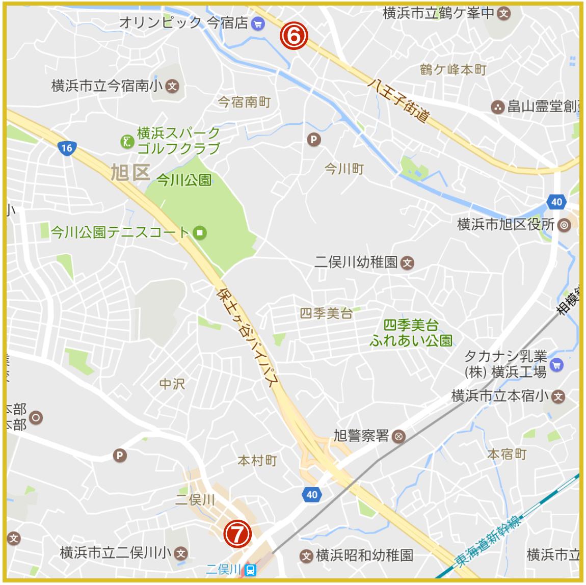 横浜市旭区にあるプロミス店舗・ATMの位置(2020年版)