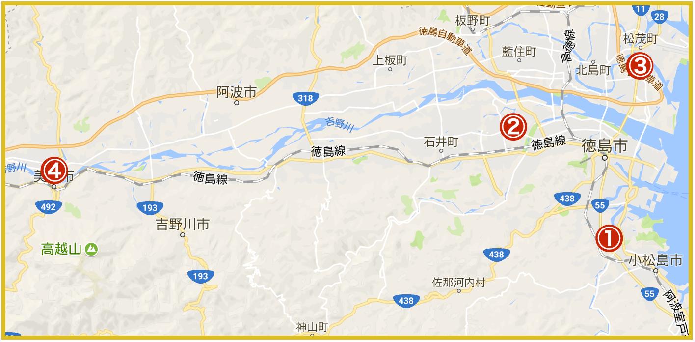 徳島県にあるプロミス店舗・ATMの位置(2020年版)