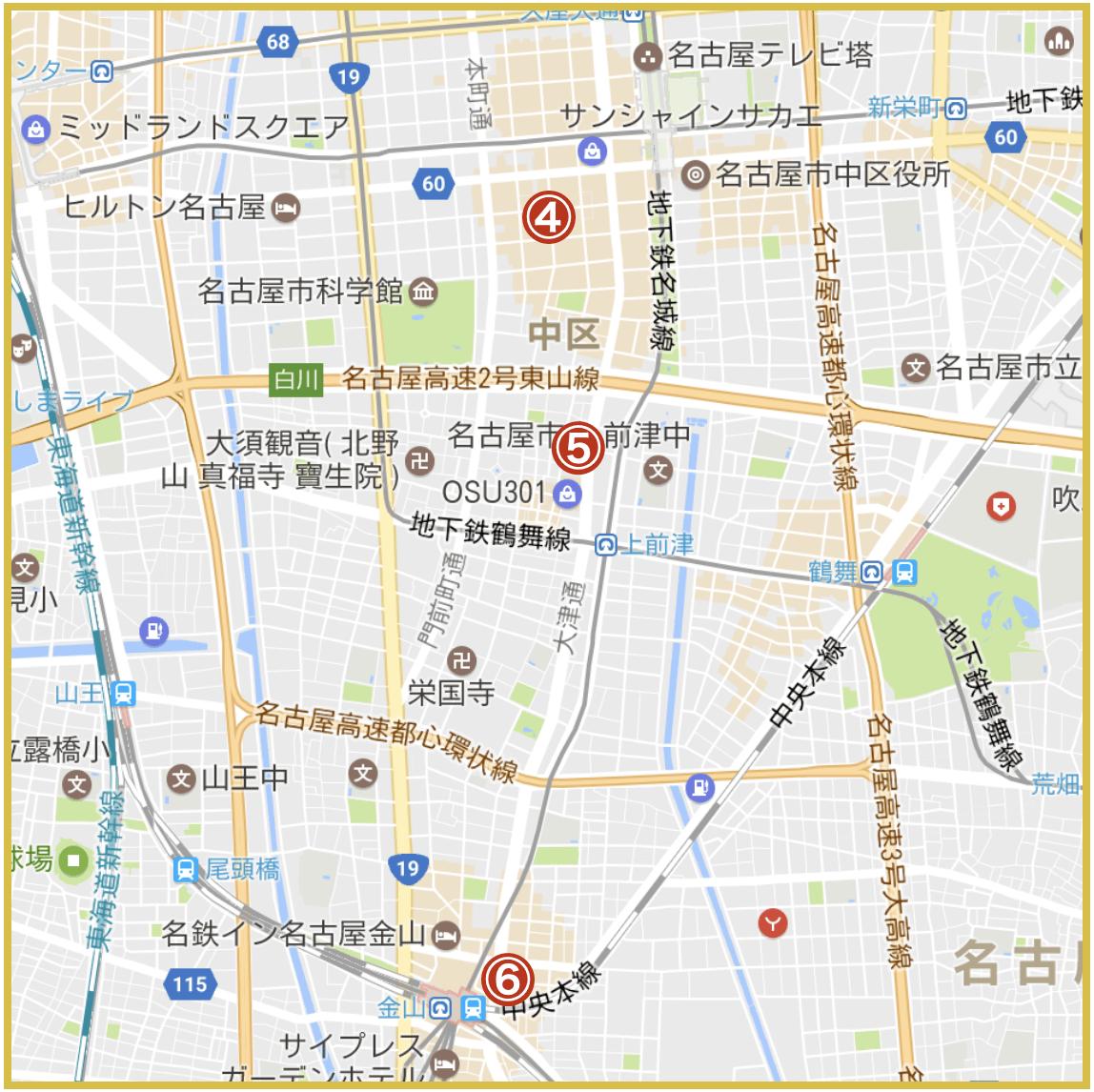 名古屋市中区にあるプロミス店舗・ATMの位置(2020年版)