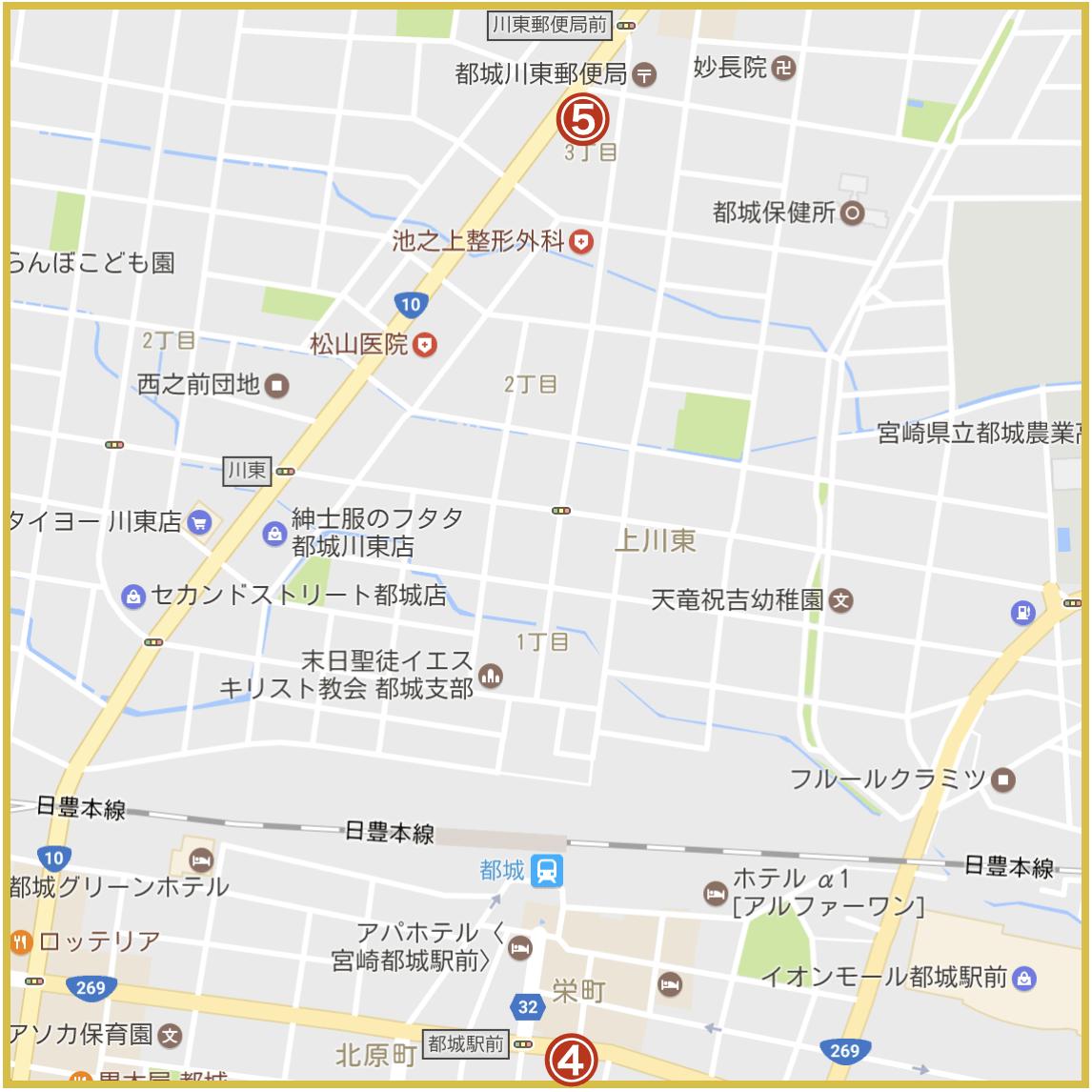 宮崎県都城市にあるアイフル店舗・ATMの位置(2020年版)