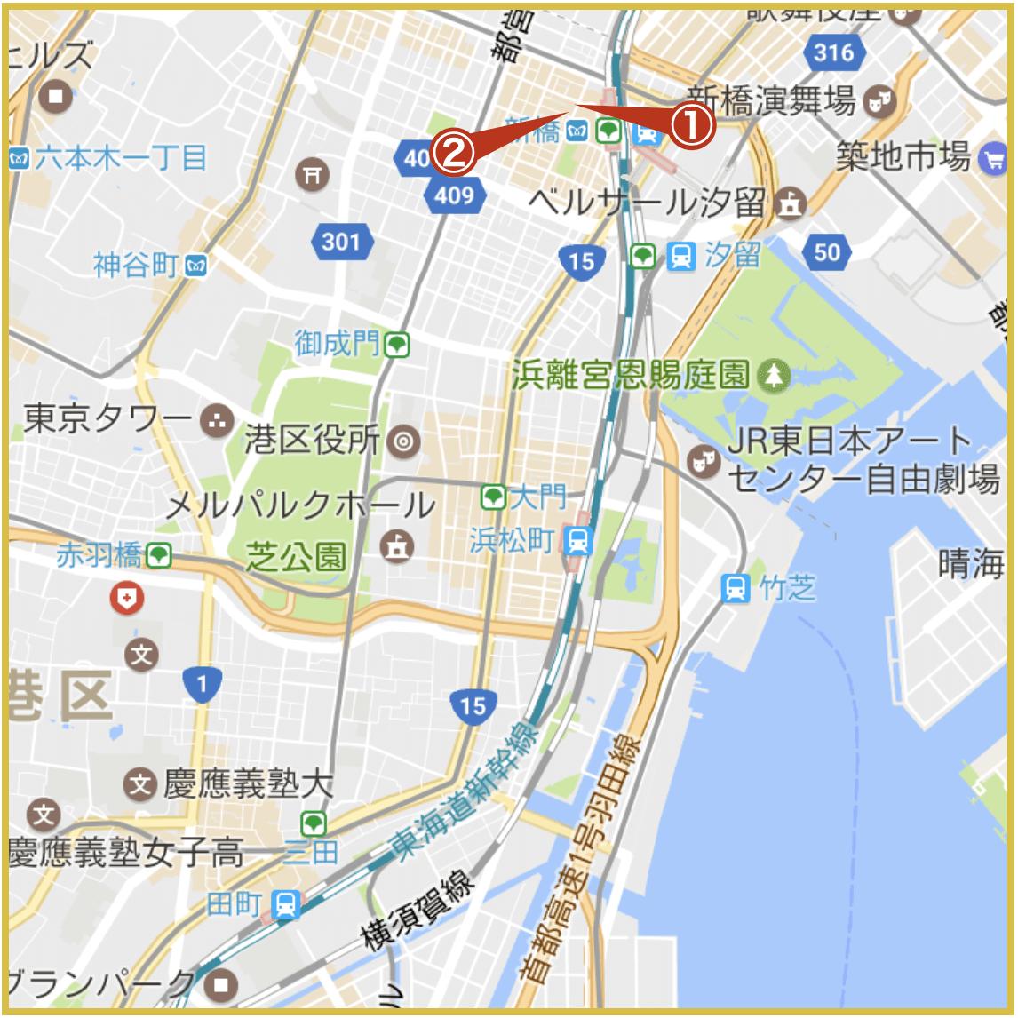 田町駅から最寄りにあるプロミス店舗・ATMの位置(2020年版)