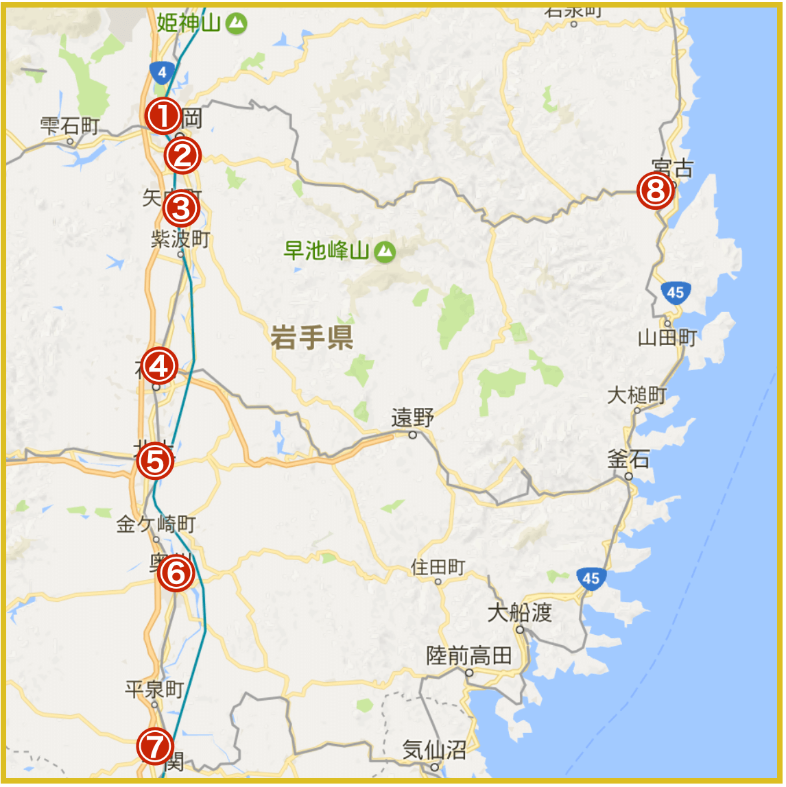 岩手県にあるプロミス店舗・ATMの位置(2020年版)