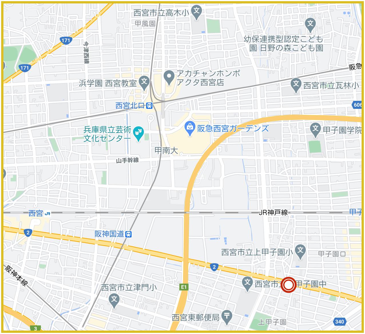 西宮市にあるプロミス店舗・ATMの位置
