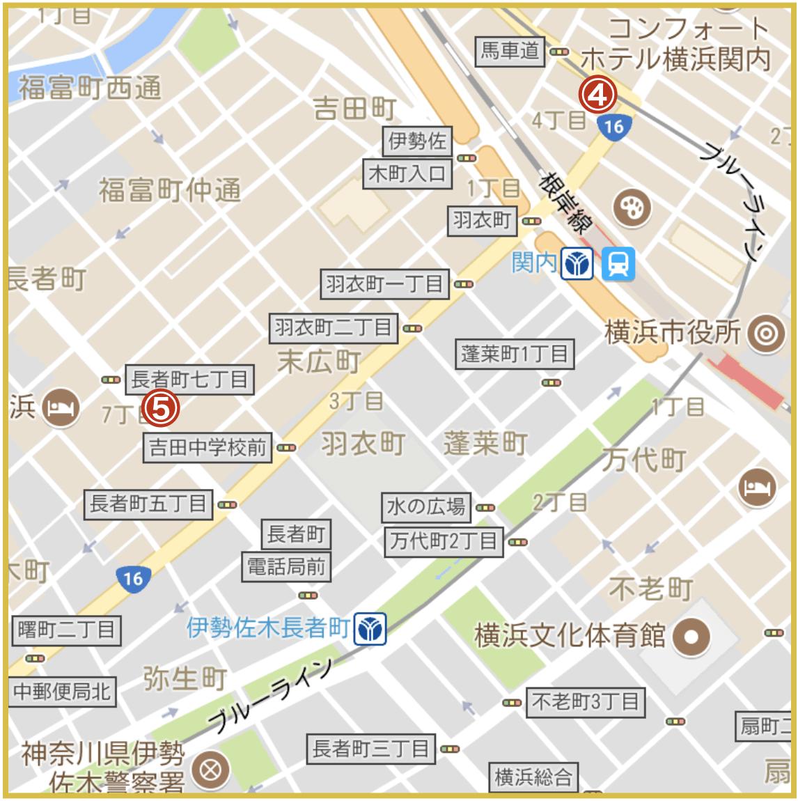 横浜市中区にあるアコム店舗・ATMの位置(2020年4月版)