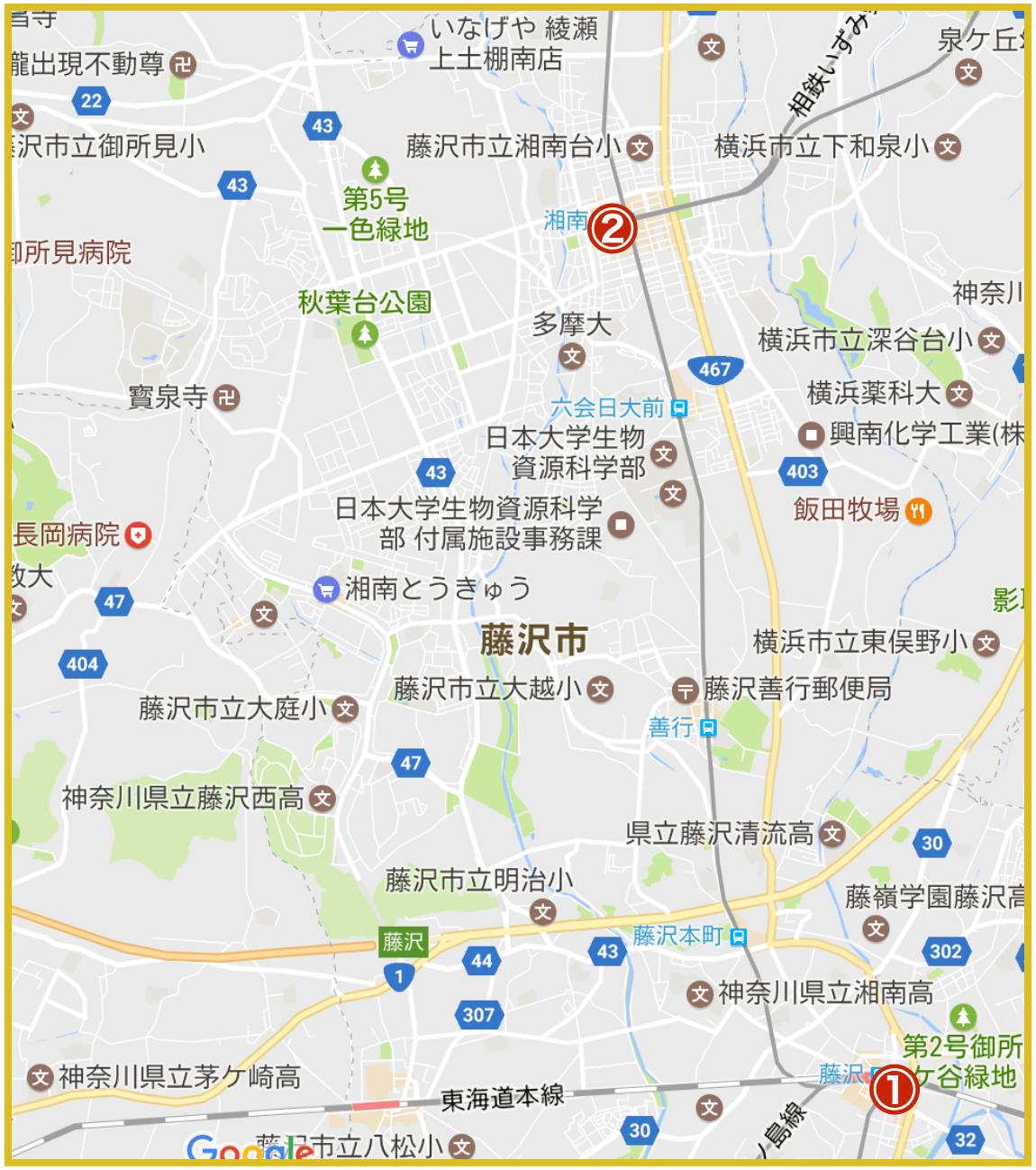 藤沢市にあるプロミス店舗・ATMの位置(2020年版)