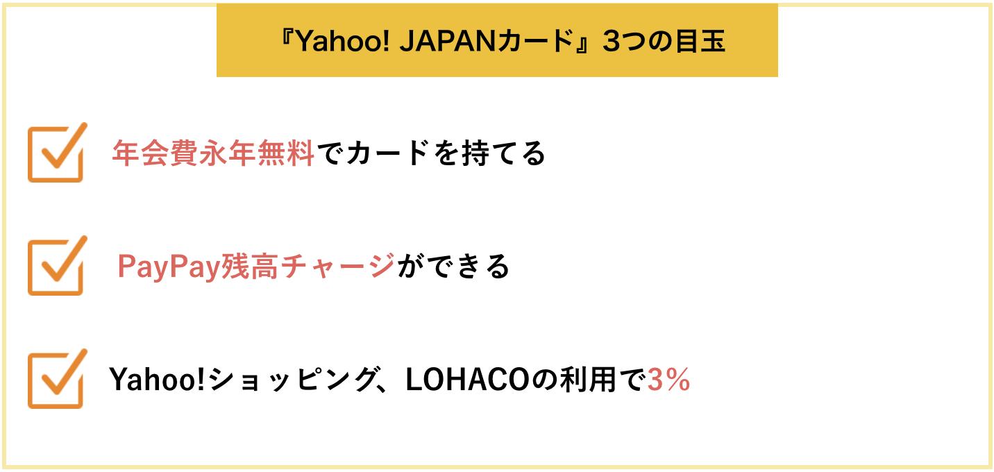 『Yahoo! JAPANカード』3つの目玉