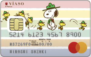VIASOカード(スヌーピーデザイン)の券面