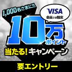 10万ポイントあたる!キャンペーン(VISA会員限定)