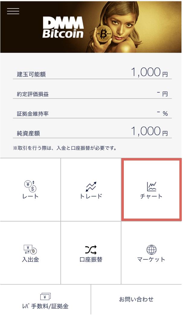 「DMMビットコイン(DMM Bitcoin)」アプリからの取引1