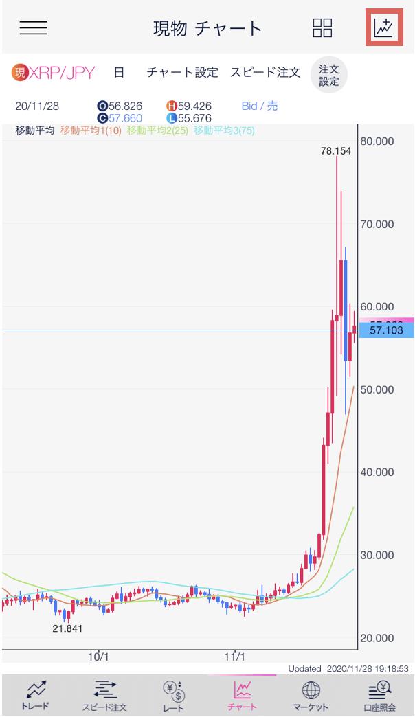 「DMMビットコイン(DMM Bitcoin)」アプリからの取引5