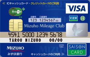 みずほマイレージクラブカードセゾン Suicaの券面画像