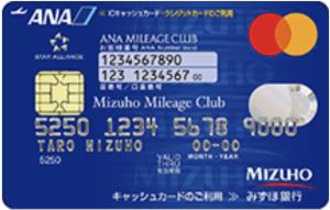 みずほマイレージクラブカード:ANAの券面画像
